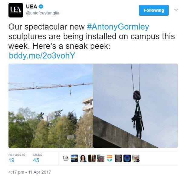 On the edge or cutting edge? What does UEA think of the new library statue?